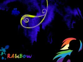Wallpaper Rainbow Dash V.I.P by KaktusaKchanell