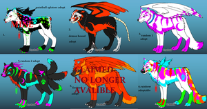 adoptable batch 2 .:1 LEFT:. by the-fullmetal18