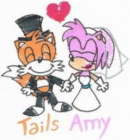 Chibi Tails+Amy Wedding by nintendomaximus