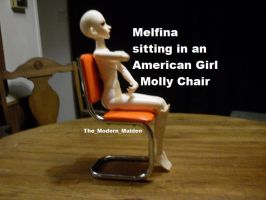 Melfina in American Girl Molly Chair 2 by The-Modern-Maiden