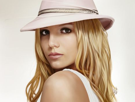 Britney Spears (1) - Photoshop painting by Packwood