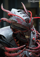 The Experiment v2 cybernetic demon warlord costume by TwoHornsUnited