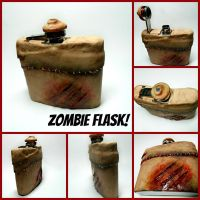 Zombie flask by kawaiibuddies