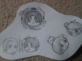 Hetalia Doodles by GoingMadHatter