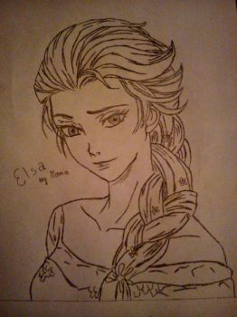 Queen Elsa from Frozen by Ahrinchann