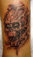 abstract skull by arcaneserpent