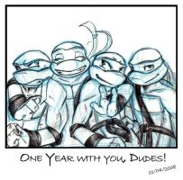 TMNT - One Year with You by xSkyeCrystalx