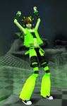 Hiccup Rave Outfit DL +Night Fury Ear DL by RandomDraggon