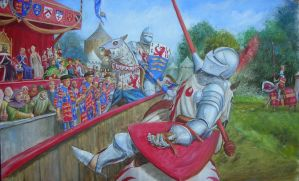 Joust in Medieval England by dashinvaine