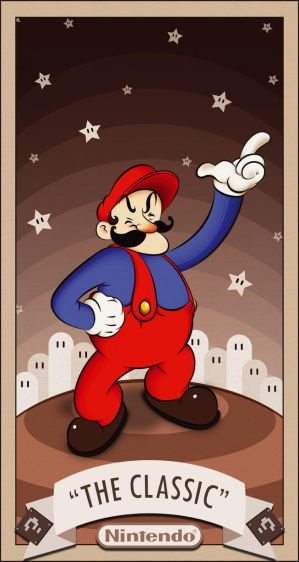 the classic Mario by Dogsfather