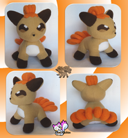 Vulpix Plushie :Commission: by Ami-Plushies