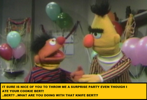 Bert Has A Problem by crazy-old-man