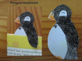 Pinguin Bookmark by DarkMysteryCat
