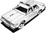Ford LTD Crown Victoria Police Coloring Sheet by ryanthescooterguy