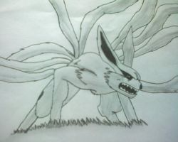 Nine tailed-fox by legendofsymphona