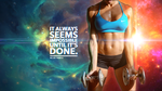 Motivational Fitness Wallpaper by CybertronicStudios
