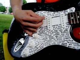 lyrics on a guitar by fuckface
