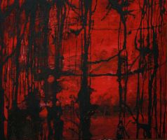 limp in the dead trees (red days) by dreamingshadow