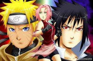 """Naruto Shippuden, Team7 """"Torn"""" by the-pooper"""
