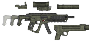 "FDW - 7 ""Boar"" SMG by AdmiralSerenity"