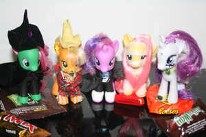 Costume Party Ponies by saucycustoms