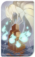 Ninetails Tarot Card by cheepers