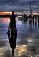 Sunset over the Trent River - New Bern, North Caro by Bulephotography