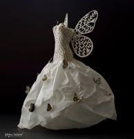 Fairy Paper Dress - Paper Art by MalenaValcarcel