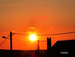 Sunset in France by Vaaalentinee