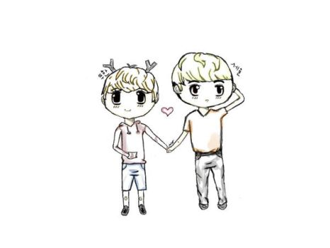 Hunhan Chibi ~sketch and shadows~ by kkaotikkaeb
