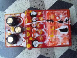 custom painted overdrive pedal by artbhatta