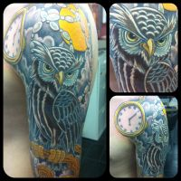 Owl Tattoo by IanTheComedian