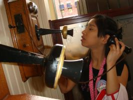It's a fake old fashioned telephone I played with by Magic-Kristina-KW