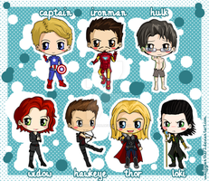 Avengers Chibis by IcyPanther1