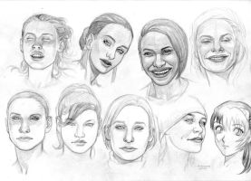 girls faces by bordon