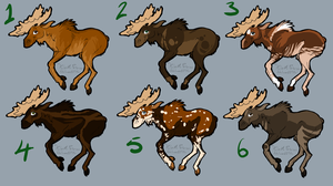 Moose Adoptables -closed by LoboSong