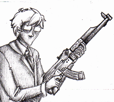john and a gun by Second-Person-Point