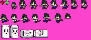 8bit Lara Sprites by rongs1234
