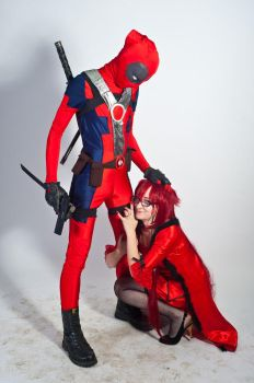 Grell and Deadpool love forever by akaiNoKitsune