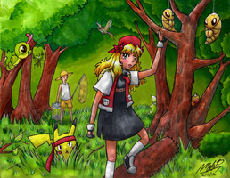 Evil Yellow Nuzlocke: Lost in the Viridian Forest by EvilMel