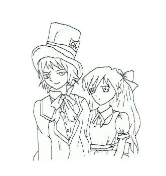 alice and hatter 1 by darkdoodler1