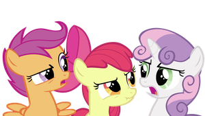 Cutie Mark Crusaders in bad mood... by WakkaEx