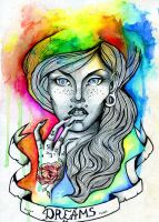 Colourful girl by Alexandra-Mad