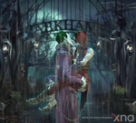Harley Quinn and The Joker - The gates of Arkham by Darksaint1071