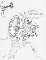 Asterix Inks by joshthecartoonguy