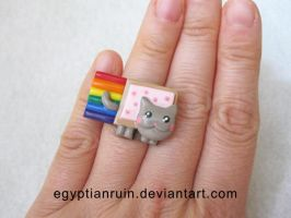 Nyan Cat Ring by egyptianruin