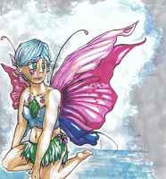 butterfly girl - original by iscaylis