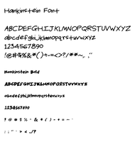 Hankinstein Font by hankinstein