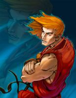 ----Ken Masters Colored------: by TV-TonyVargas
