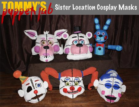 Sister Location Cosplay Masks by TommyGK
